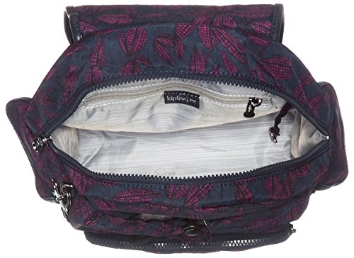 Kipling - City Pack S, Zaini Donna Multicolore (Orchid Bloom)