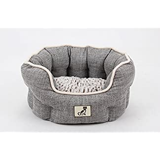 AllPetSolutions Alfie Range Beds - Fleece Lined Warm Dog Bed - Washable (Small, Grey) 8