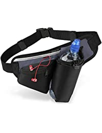 Quadra - sac banane - ceinture - running - hydratation porte-bouteille - QS20 - noir / gris graphite