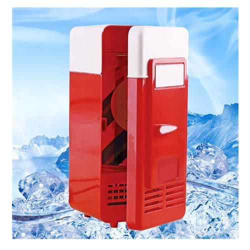 Mini-bier-kühler (About1988 Mini Portable USB Kühlschrank,Modern Edition Kühlschrank Standkühlschrank,Auto Portable Bier Getränk´Bier Kühler Getränkekühler/Mini-Bar/Retrokühlschrank (Rot))