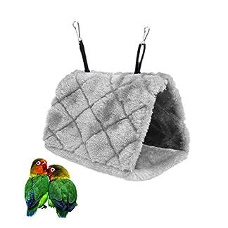 Bello Luna Purple Parrot Nest Pet Bird Nest Winter Warm Hammock Hanging Cave Cage Plush Happy Hut Tent Bed(S) 6