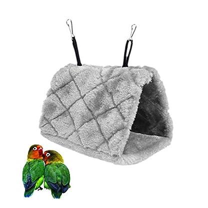 Bello Luna Purple Parrot Nest Pet Bird Nest Winter Warm Hammock Hanging Cave Cage Plush Happy Hut Tent Bed(S) 1