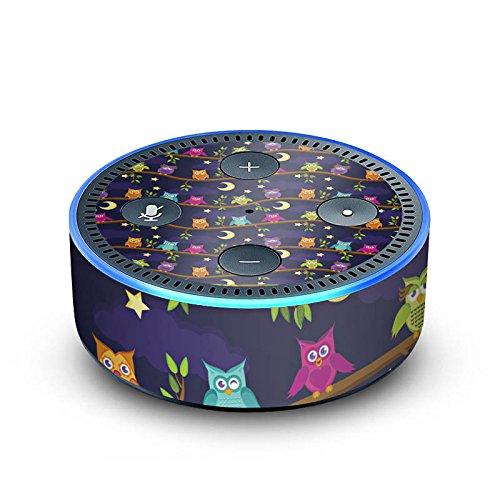 amazon Echo Dot 2.Generation Folie Skin Sticker aus Vinyl-Folie Eulen Nacht Mond