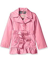 Urban Republic Girls' Ruffle Hem Trench Jacket