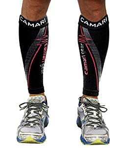 Compression Sleeve- Prevent Shin Splints, Calf Strains,Plantar Fasciitis,- Leg Socks For Men and Women- Black- Calf Guard for Running, Walking, Tennis, Golf, Cycling, Maternity, Travel, Nurses and Working out