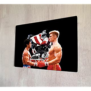 Artylicious Rocky Balboa V Drago Film A4Retro Metall Kunst Schild