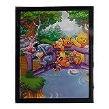 Tableau Winnie l'Ourson, Porcinet, Tigrou, Bourriquet et Lumpy 20 x 25 cm Disney cadre pont