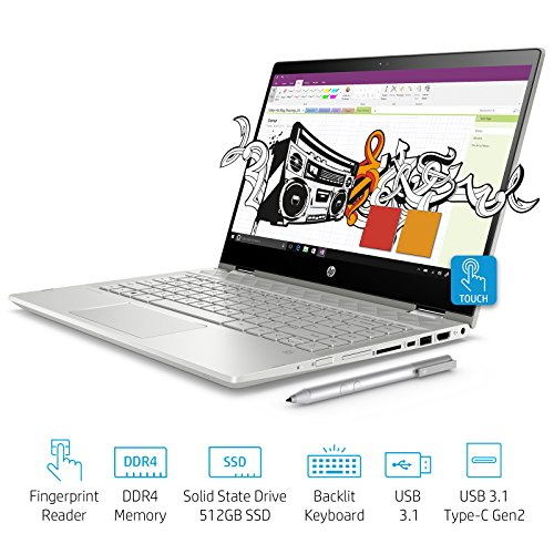 Buy Hp Pavilion X360 Intel Core I7 8th Gen 14 Inch Touchscreen 2 In 1 Fhd Thin And Light Laptop 12gb 512gb Ssd Windows 10 Home Ms Office 4gb Graphics Mineral Silver 1 59 Kg Cd0056tx Online Gadgets Guru