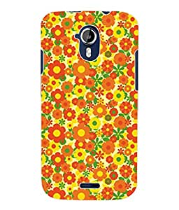 Fuson 3D Printed Floral Pattern Designer Back Case Cover for Micromax Canvas Magnus A117 - D930