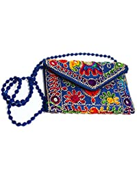 Rajasthani Handicraft Embroidered Clutch Sling Bag Clutch Bag - B07F1TLGV2