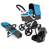 Kinderwagen Set MAGICA mit Babyschale 3 in 1 Kombi Kinderwagen Blau
