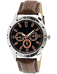Style Keepers New Arrival Special Collection Brown Round White Dial Brown Leather Strap Party Wedding | Casual...