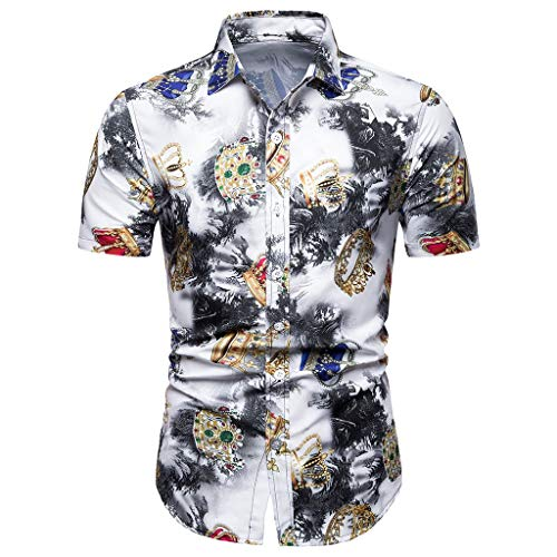 3aab14b8b024 PRINCER Man Stand Collar Fashion Casual Short Sleeve Spell Color Slim Top  Vertical Stitching top T