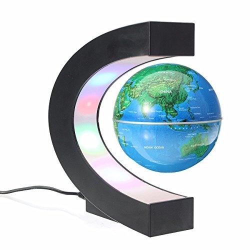 Preisvergleich Produktbild 2017 nuovi AIYIBEN levitazione magnetica, anzeige alta rotazione C Forma sospensione magnetica Levitazione Globe con luci eine LED pro l'apprendimento Insegnamento Demo Home Office Desk Dekoration