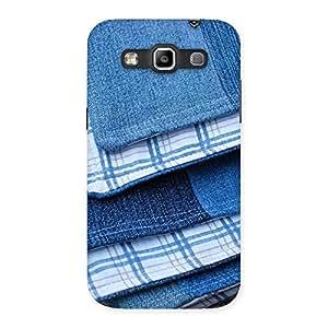 Enticing Denim Blanket Print Back Case Cover for Galaxy Grand Quattro
