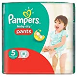 Pampers Baby-Dry 21 Couches-Culottes Taille 5 (12-18 kg)