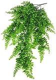 Pkfinrd Artificiale Fern plastica Decorative Plant Simulation Verde cespugli Esterno Coperto Giardino della casa Ufficio Veranda Nuziale della col