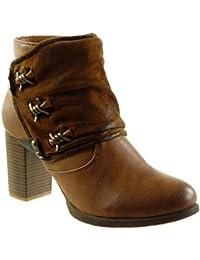 es Zapatos 37 Color Mujer Botines Amazon Camel Para 41wPCCx