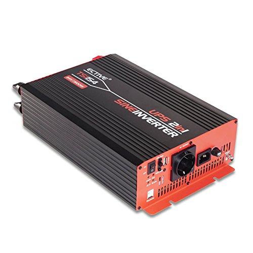 ECTIVE 1500W 12V zu 230V TSI-Serie Reiner Sinus Wechselrichter mit NVS in 6 Varianten: 500W - 3000W