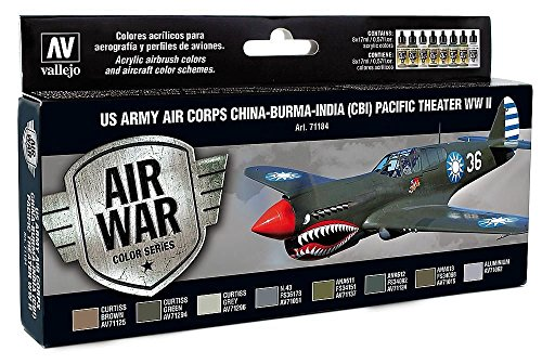 acrylicos-vallejo-us-army-air-corps-china-burma-india-cbi-pacific-theatre-wwii-model-air-set