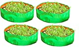 Evergreen Terrace Gardening Leafy Vegetable Grow Bag, 18x8- inch (Green) - Pack of 4