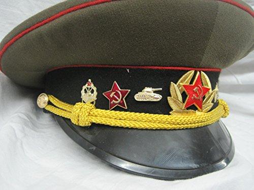 Russische Armee Kostüm - Schirmmütze Offizier Russland Sowjetunion Panzer Gr. 58 Fasching Karneval Kostüm