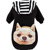 Animal de compagnie Sweatshirts Mode Mignonne Vêtements pour Chien Chat (M:Convient à la poitrine 14 pouces, Noir)