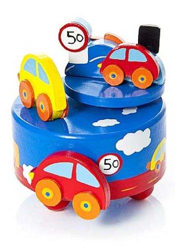 Baby Spieluhr Spieldose Holz Auto mit Musik Geschenk für Jungs