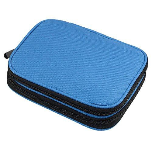 Sharplace Organizer Case Nähen Zubehör Nadeln Stricknadeln Häkelnadel Tasche Nadeltasche Strickzubehör Stricknadeletui - Blau (Organizer Häkelnadel)