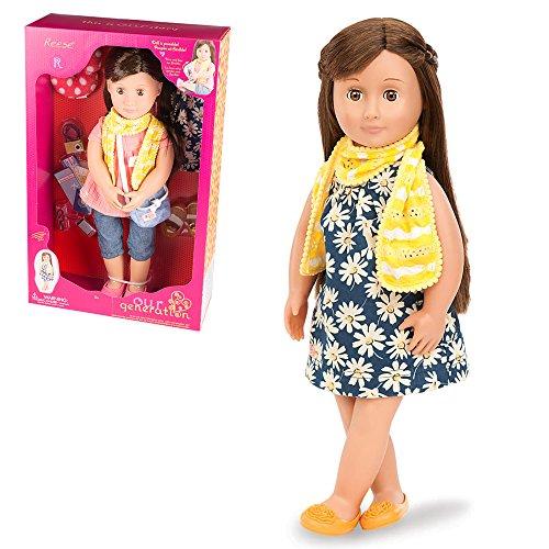 Our Generatioin 44284 - Reese OG Puppe mit Blumenkleid, 46 cm
