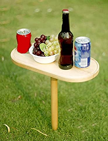 Outdoor Portable Barbecue Picknick-Tische Folding Wooden Beach Lovers Gummi Holz