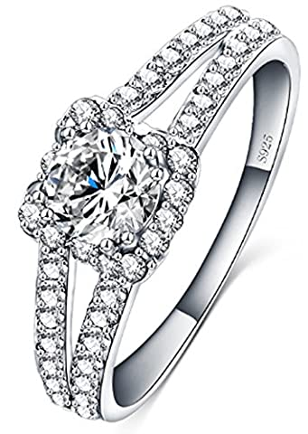 SaySure - 925 Sterling Silver Jewelry Wedding Silver Ring (SIZE : 7)