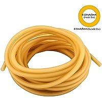 HONGCI Manguera de Goma, 5M Banda Elástica de Látex Natural para Hondas, Tirachinas, Caza, al Aire Libre y como Tubo Quirúrgico (3*5mm)