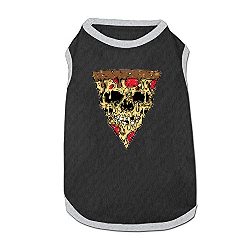 DGGGD Hund Weste, Pizza Zombies Bedruckt Pet Kleidung Kostüm Kleine Haustiere Hund Puppy Katze Kleidung Bekleidung T Shirt Weste