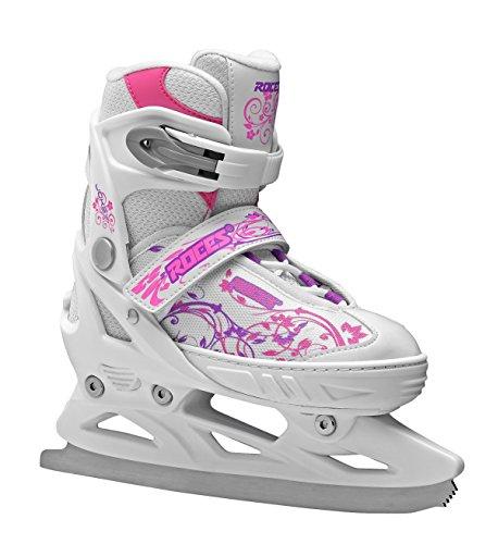 Roces Kinder Schlittschuhe Jokey Ice Girl Größenverstellbar, White-Pink-Violet, 30/33, 450677-001