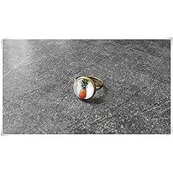 Anillo de piña, anillo ajustable, anillo de bronce, anillo de verano, anillo delicado, joyería de cristal cúpula pura hecha a mano