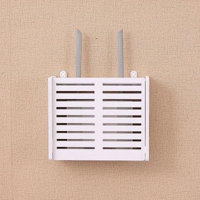 Soporte de pared WIFI Router de almacenamiento cajas estantería estor, Blanco, Small