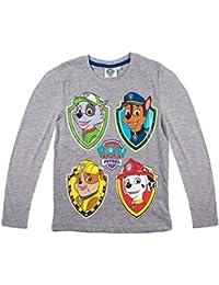 ba5cba3e0 La Pat  Patrouille T-Shirt Manches Longues Enfant garçon Gris de 3 à 8ans