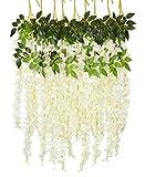 YQing Lot de 6 Fleurs artificielles en Soie pour décoration de Mariage, Jardin, fête, décoration de fête