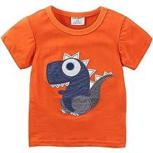 70e98d334 Dibujos Animados Dinosaurios Camisetas Niño Animales de Manga Corta