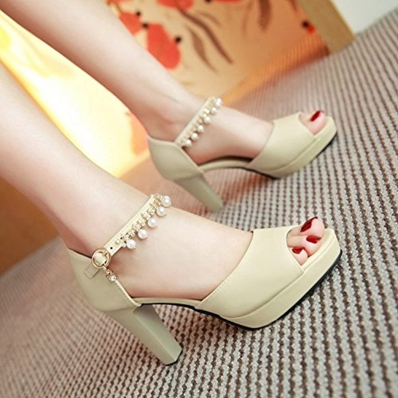 BAJIAN-LI Alta heelsdonna sandali estivi di Peep toe scarpe scarpe scarpe basse Ladies Flip Flop sandali scarpe   Prima qualità  6709cf