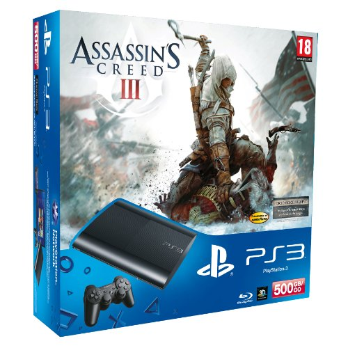 SONY - CONSOLA SONY PS3 SLIM 500GB NUEVA + ASSASSIN`S CREED III - 500gb Slim Ps3