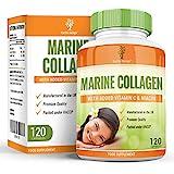 Collagène Marin - 400mg Complément avec Niacine & Vitamine C & B3 - Complément à Dosage Maximum - Marine Collagen - Pour Hommes et Femmes - 120 Capsules (2 Mois d'Approvisionnement) de Earths Design