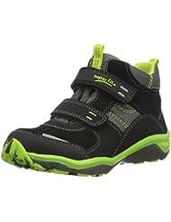 Superfit SPORT5 MINI 700239, Jungen Hohe Sneakers, Schwarz (SCHWARZ 00)