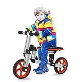 WandT Balance Bike Dreirad für Kinder 2/3 Rad Kids Scooter, 4 in 1 DIY Reiten Spielzeug für Mädchen Jungen 2–5 Jahre alt