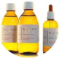 PureSilverH2O 600ml Kolloidales Silber (2x 250ml/50ppm) + Pipettenflasche (100ml/50ppm) Reinheit & Qualität seit... preisvergleich bei billige-tabletten.eu