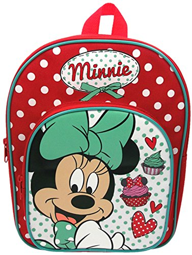 Disney Minnie Mouse Red and White Spotty Rucksack (Arch Mickey)