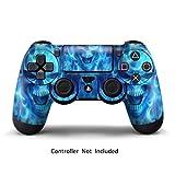 PlayStation 4 PS4 Designfolie Controller Sticker - Aufkleber Schutzfolie Skin für Sony Playstation DualShock 4 Wireless Controller - Blue Daemon