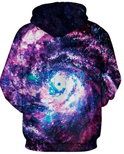 TDOLAH Nouvelle Pull de Haute Qualité Femme avec Manches Longes Sweat-shirts à Capuche Galaxy Violet 037-2