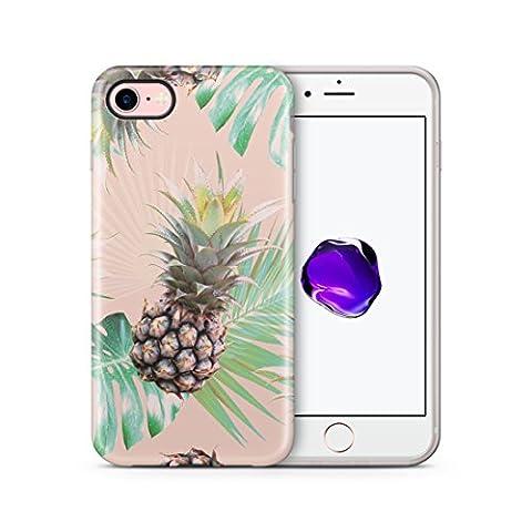 iPhone 7 Hülle, Cujas Weiche TPU Silikon Schutzhülle Blickdicht mit IMD Technologie Case Schutz Handyhülle (iPhone 7 Ananas)